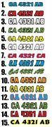 Color Boat Registration Number Pair Decal Sticker 3x18+ Letter Weatherproof