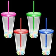 Lumistick Led Flashing Glowing Cocktail Multi-color Light Up Tumbler Glass