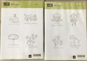 Stampin Up Easy Events 1 And 2 Cute Clear Mount 8 Stamps Set Baby Weddings