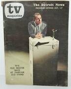 The Tv Magazine - Detroit News Oct 1-7 1961 - Perry Como On Cover