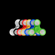 Lumistick Glowing Stress And Anxiety Relief Toy Led Light Up Fidget Spinner Lot
