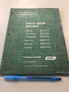 1965 Cushman Parts Book Electric Deluxe Trophy Director Champion