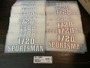 68 Qty Huge Lot 1720 Sportsman Key West Boats Domed Decal Raised Decal Chrome