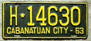 Cabanatuan City Philippines License Plate Tag - 1963 - Low Shipping Re-painted