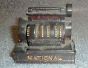 Old Painted Cast Iron Paperweight Advertising National Cash Registers