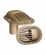 Buck Algonquin 00is125 Bronze Intake Strainer - Oval Base - Thru Hull Style