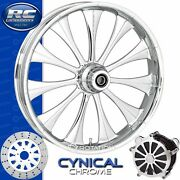 Rc Components Cynical Chrome Custom Motorcycle Wheel Harley Touring Baggers 21