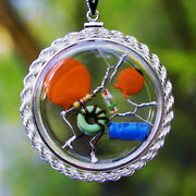 Quantum Crystal Radio Quantum Witch Amulet Encased In A Sterling Silver Bezel