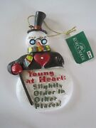 Kurt Adler Ornament Snowman Young At Heart Slight Older In Other Places Nwt Ii