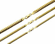 10k Solid Yellow Gold 3mm-5mm Miami Cuban Link Necklace Chain Sz 20-30