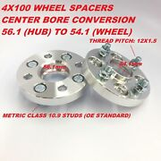2 25mm Hubcentric Wheel Spacers 4x100 Change Center Bore 56.1 To 54.1mm