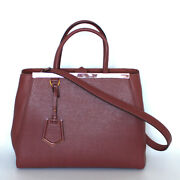 Fendi 2 Way Bag Red Red Calfskin 2jours From Japan