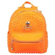Philipp Plein Couture Homme Backpack Neon Orange Bag Polyurethane And Polyester