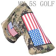 Golf Camouflage Cloth Cover Blade Putter Head Cover Magnetic For Odyssey Scotty