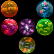 Lumistick Led Colorful Toy For Kids 3 Light-up Bounce Balls Lot