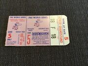 Yankees 19th Champ Roger Maris 1961 World Series Ticket G5 Reds Mickey Mantle