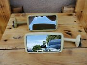 Vintage Rare Door Edge Mount Side Mirror 1930and039s 1940and039s Gm Chevy Ford Mopar