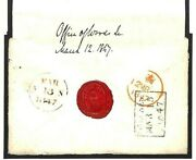 Gb Official Cover Penny Red Office Of Woods 1847 Wax Seal Letter Trees Ms2404