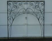 Pil Archway Wrought Iron Door Archway Black Metal Heart Architectural Salvage