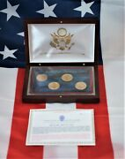 Us Commemorative Gallery 2013 Presidential Dollars Wooden Display Box A-1000