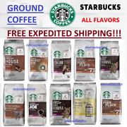 Starbucks Ground Coffee 12 Ounce Bag - Pick Flavor And Quantity - Free Expedited