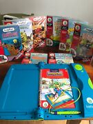 Blue Leap Frog Leappad Interactive Learning System 9 Books And Cartridges Disney
