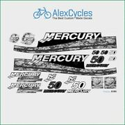 Mercury Marine 50 Hp Outboadrs Motor Pixel Laminated Decals Boat Kit Stickers