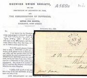 Gb Fire Insurance Cover 1838 Paid At Bristol Superb Norwich Union Letter A169b
