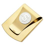 Storus Smart Money Clip With Sign Medallion - Polished Gold Finish/silver Coin