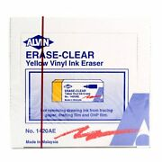 Erase-clear Yellow Vinyl Ink Eraser For Tracing Paper/drafting Film Alvin 1420ae