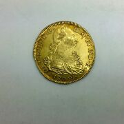 1802 P Jf Colombia Gold 8 Escudos Km62.2 Carolus Iiii Pleasing Coin Lustrous