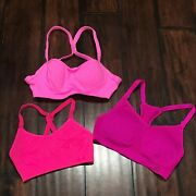 Pink Sports Bras 32b Small Womens Padded Vsx Sport Under Armour Top