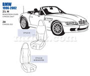 Bmw Z3 Z8 M Roadster Front Leather Seat Cover Set Style 3 4 1996-02 Oem New