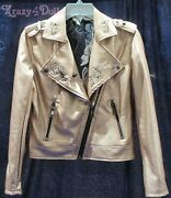 Disney Designer Womens Maleficent Motorcycle Faux Leather Jacket New With Tags