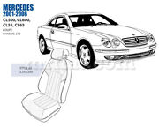 Mercedes Cl Front Seat Cover Set 2003-06 Oem New
