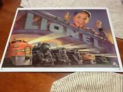 Lionel Trains Metal Tin Sign 16x12 - Multiple Engines Sign