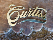 Curtiss Car And Motorcycle Brass Script 1909 - 1930s