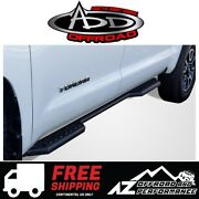Add Stealth Side Steps Black For 2007+ Toyota Tundra Crewmax