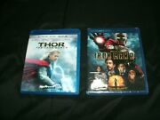 Thor The Dark Worldblu-ray/3d Br, New Open And Iron Man 2blu-ray, New Seal