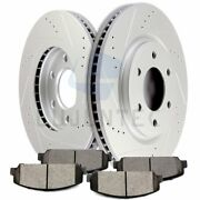 Ceramic Brake Pads And Rotors Disc Front For 2008 09 10 Qx56 Titan Drilled Slotted