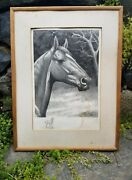 George Ford Morris Signed Man O' War Lithograph With Original Drawing 1944