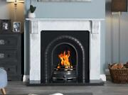 Cast Iron Granite Marble Stone Mantel Surround Coal Fire Fireplace Suite Gas