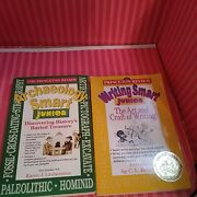 Princeton Review- Writing And Archeology Smart Junior Books 2 Book Lot- Free Ship