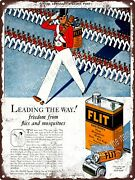 1927 Flit Destroys Flies Mosquitoes Sprayer Can Bed Bugs Metal Sign 9x12 A293