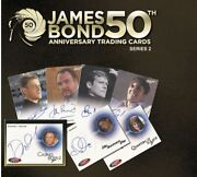 James Bond 50th Anniversary Series 2 Sealed Case Of 12 Boxes Of Trading Cards