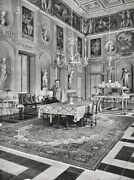 1947 Marchese Don Giovanni And Wife By Alfred Eisenstaedt Rome Palace Vintage Art