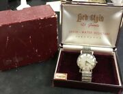 Lord Elgin Shockmaster White Gold 14k Diamond - Vintage Immaculate Condition