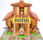 Oehme And Sandoumlhne 132 Western Large Bank House And Britains Wild West Cowboys Mib`74