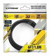 High Speed 6ft Hdmi 2.0 4k 3d 18gbps Supports Ethernet For Oled / Lcd Tvs