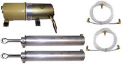 1969-1970 Ford Mustang New Convertible Top Pump Motor 2 Cylinders And Hose Set